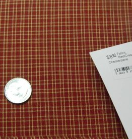 Dunroven House, Inc. Fabric, Red/Cream Checkerpane