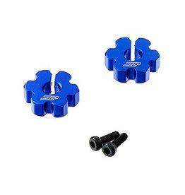 J Concepts 2347-1 Alum Ultra Fr Wheel Hex RC10B5/B5M Blue (2)