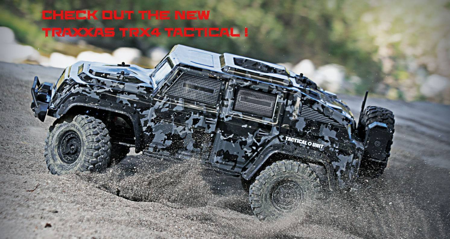 Check out Traxxas TRX4 Tactical!