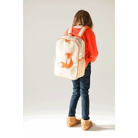 Raw Linen Grade School Backpack (8 Designs)