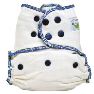 Sweet Pea Diapers Bamboo Cotton Fitted Diaper, Sweet Pea