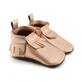 Mally Bibs Mally Mocs, Metallic Rose Gold