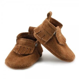 Mally Bibs Chestnut Lux Suede Mally Mocs