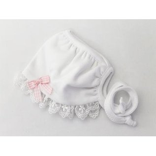 Itty Bitty Baby Co. Itty Bitty Bonnet, White