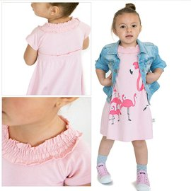 WeeUrban WeeUrban Dress, Flamingo