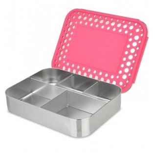 Lunchbots Pink Cinco Stainless Bento Lunch Box