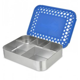Lunchbots Blue Cinco Stainless Bento Lunch Box