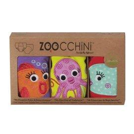 Zoochini Training Pant 3 Pack, Girls Ocean