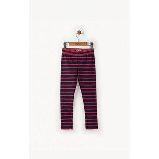 Hatley Navy & Fuchsia Striped Leggings