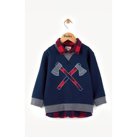 Hatley Hatley Plaid Lumber & Axes Fooler Sweater