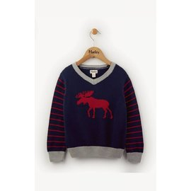 Hatley Hatley Classic Moose V-Neck Sweater