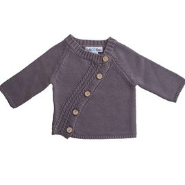 Beba Bean Diagonal Cardigan, Grey