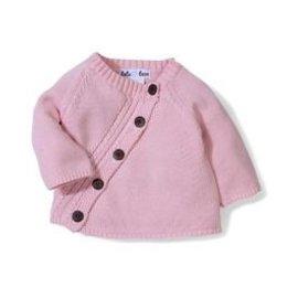 Beba Bean 3-6m Diagonal Cardigan, Pink