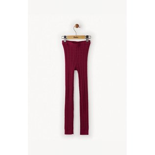 Hatley Hatley Raspberry Cable Knit Tights