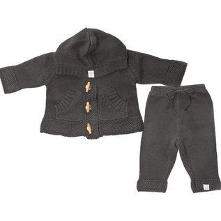 Beba Bean Grey Knit Hoodie & Pant