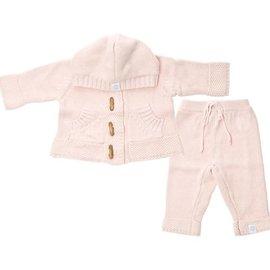 Beba Bean Pink Knit Hoodie & Pant