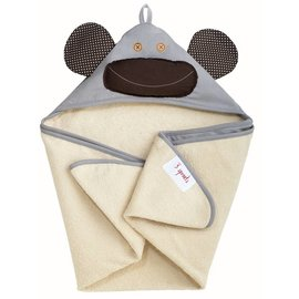 3 Sprouts 3 Sprouts Grey Monkey Towel