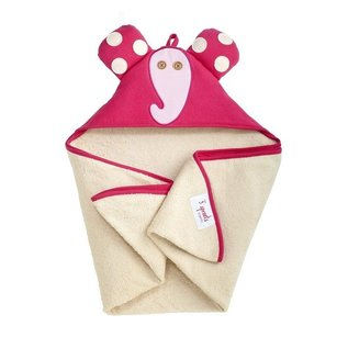 3 Sprouts 3 Sprouts Pink Elephant Towel