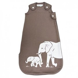 WeeUrban Taupe Elephants WeeDreams Premium Sleep Sac