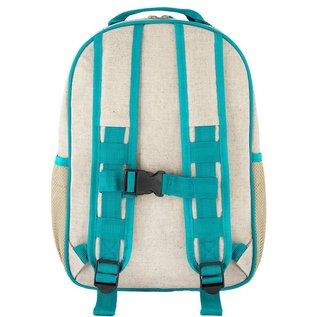 SoYoung Aqua Bunny Raw Linen Gradeschool Backpack