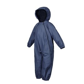 Navy Splashy Breathable Nylon Rain Suit