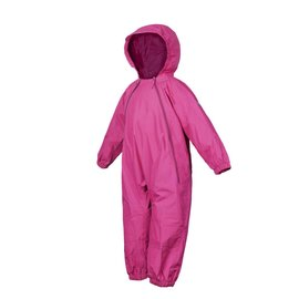 Pink Splashy Breathable Nylon Rain Suit