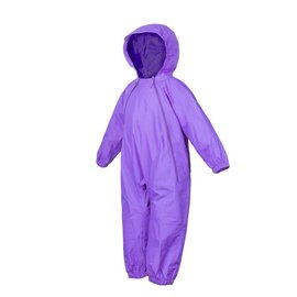 Purple Splashy Breathable Nylon Rain Suit