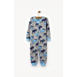 Hatley Hatley Organic Blue Moose Mini Coverall