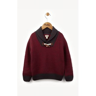 Hatley Hatley Maroon Toggle Sweater