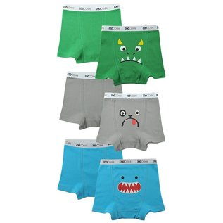 Zoochini Organic Boys Boxer Briefs, Monster Mash