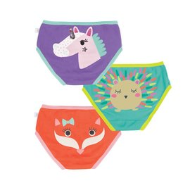 Zoochini Organic Girls Underwear, Enchanted Forest