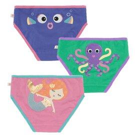 Zoochini Organic Girls Underwear, Coral Carribean