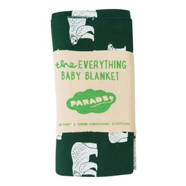 Parade Organics Green Polar Bears 'Everything' Blanket