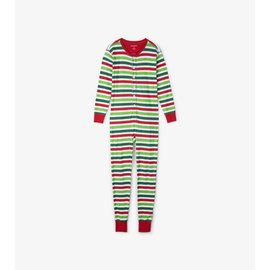 Little Blue House Adult Union Suit, Christmas Stripe