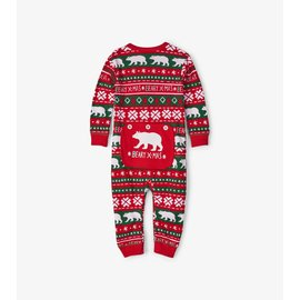 Little Blue House Infant Union Suit, Beary X-Mas