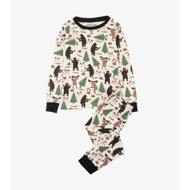 Little Blue House Lumberjack Animals PJ Set
