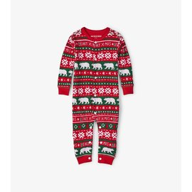 Little Blue House Beary Xmas Kids Union Suit