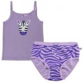 Zoochini Organic Cami & Underwear Set, Zebra