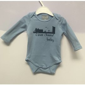 Ollie Jones Organic Owen Sound Baby L/S Onesie, Allure