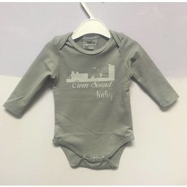 Ollie Jones Organic Owen Sound Baby L/S Onesie, Griffin