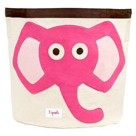 3 Sprouts Toy Bin, Pink Elephant