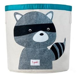 3 Sprouts Toy Bin, Raccoon