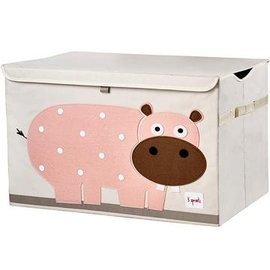 3 Sprouts Toy Chest Pink Hippo