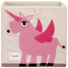 3 Sprouts Storage Box, Unicorn