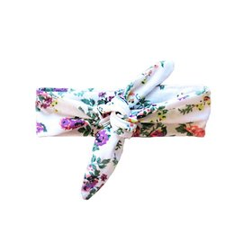 Baby Wisp Top Knot Headband, White Floral