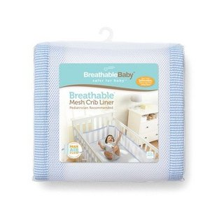 Breathable Baby Breathable Bumpers, Blue