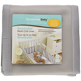 Breathable Baby Breathable Bumpers, Grey