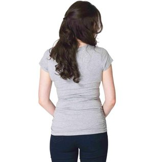 Momzelle Essential Maternity T, Light Heather Grey