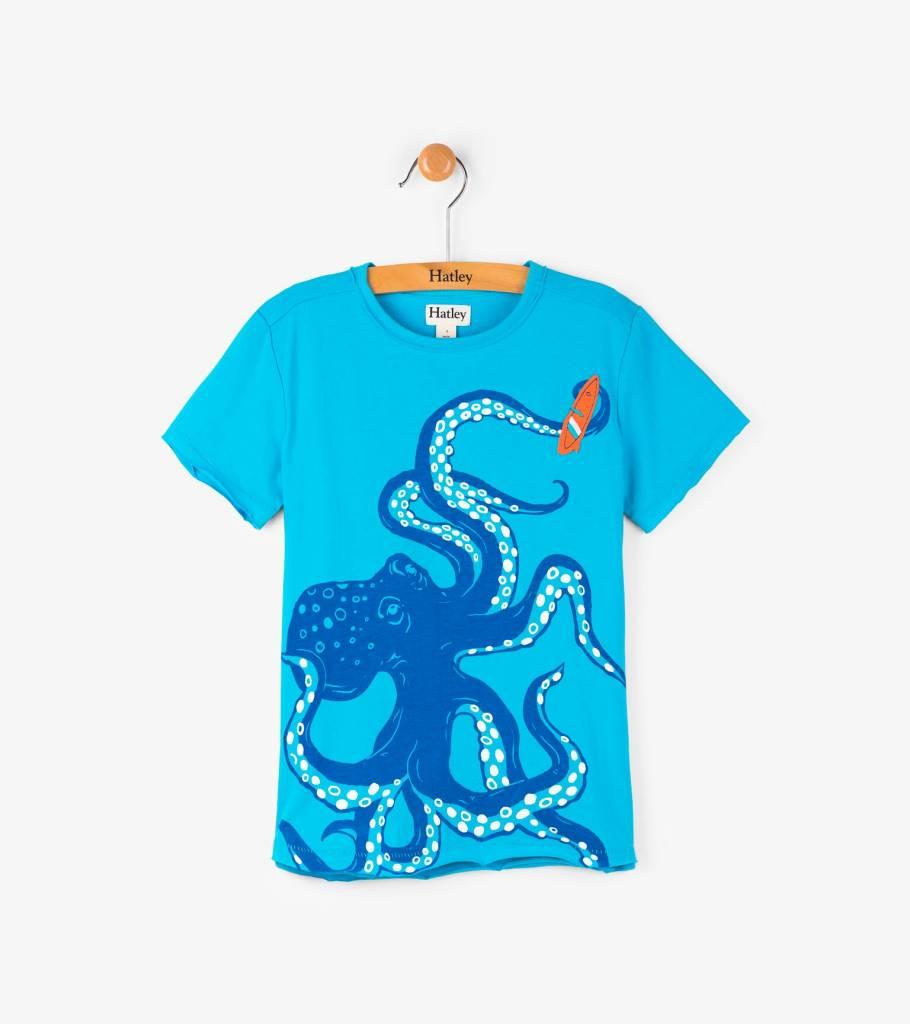 Hatley Wave Catching Octopus Tee Sweetpea Wholesome Baby