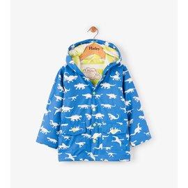 Hatley Colour Changing Dinosaur Menagerie Classic Raincoat